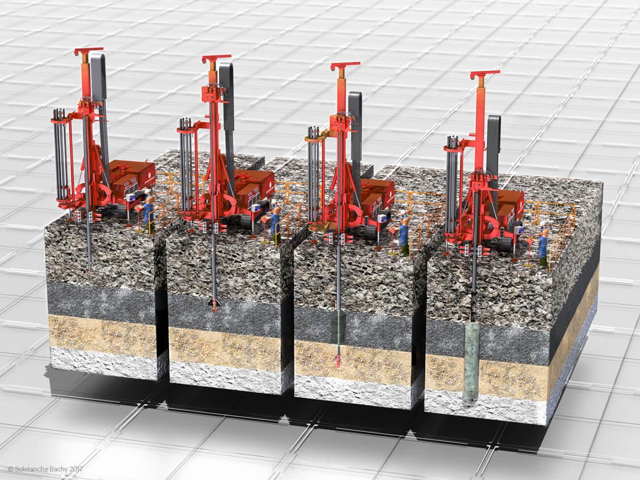 Deep Soil Mixing/ confortement /amélioration de sol/reinforcing