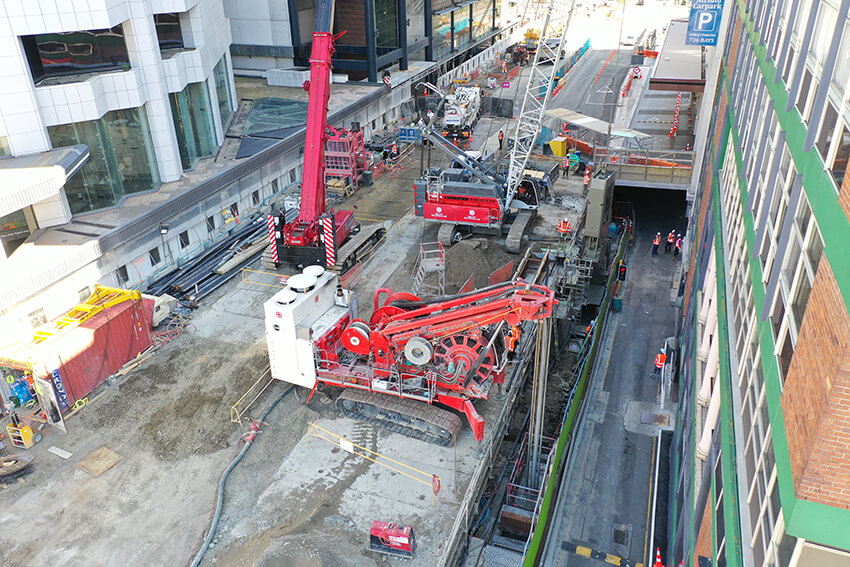 paroi moulée/ diaphragm wall/City Rail Link/ New-Zeland