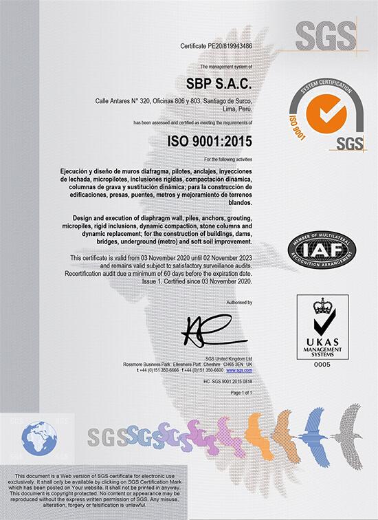 ISO 9001: 2015 – Gestión de la Calidad, ISO 14001: 2015 – Sistemas de Gestión Ambiental y en la ISO 45001: 2018 – Gestión de la Seguridad y Salud en el trabajo