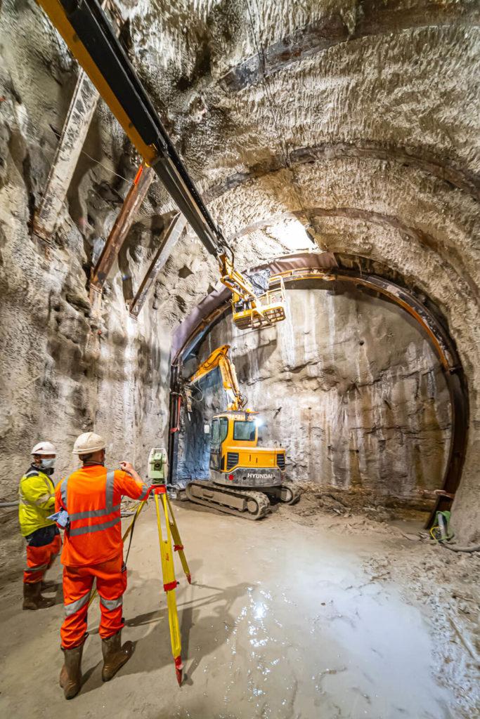 Cintre/ tunnel creusement traditionnel
