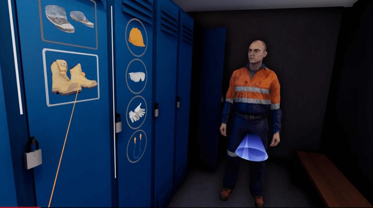 Réalité virtuelle/ safety virtual reality/ realidad virtual seguridad/ paroi moulée/ tunnel/ diaphragm wall