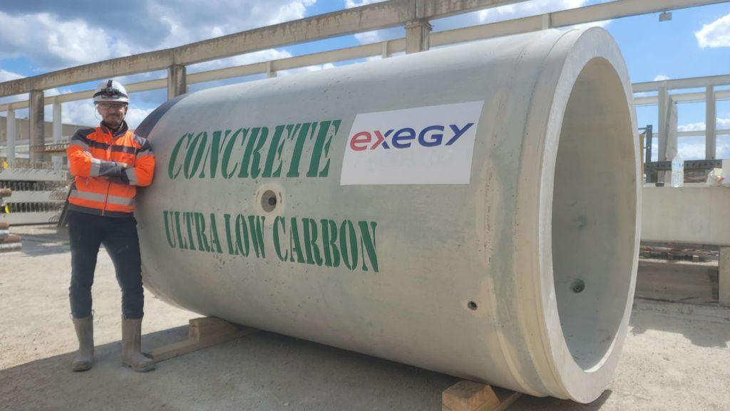 Tuyau UBC/microtunnelier/béton ultra bas carbone/exegy